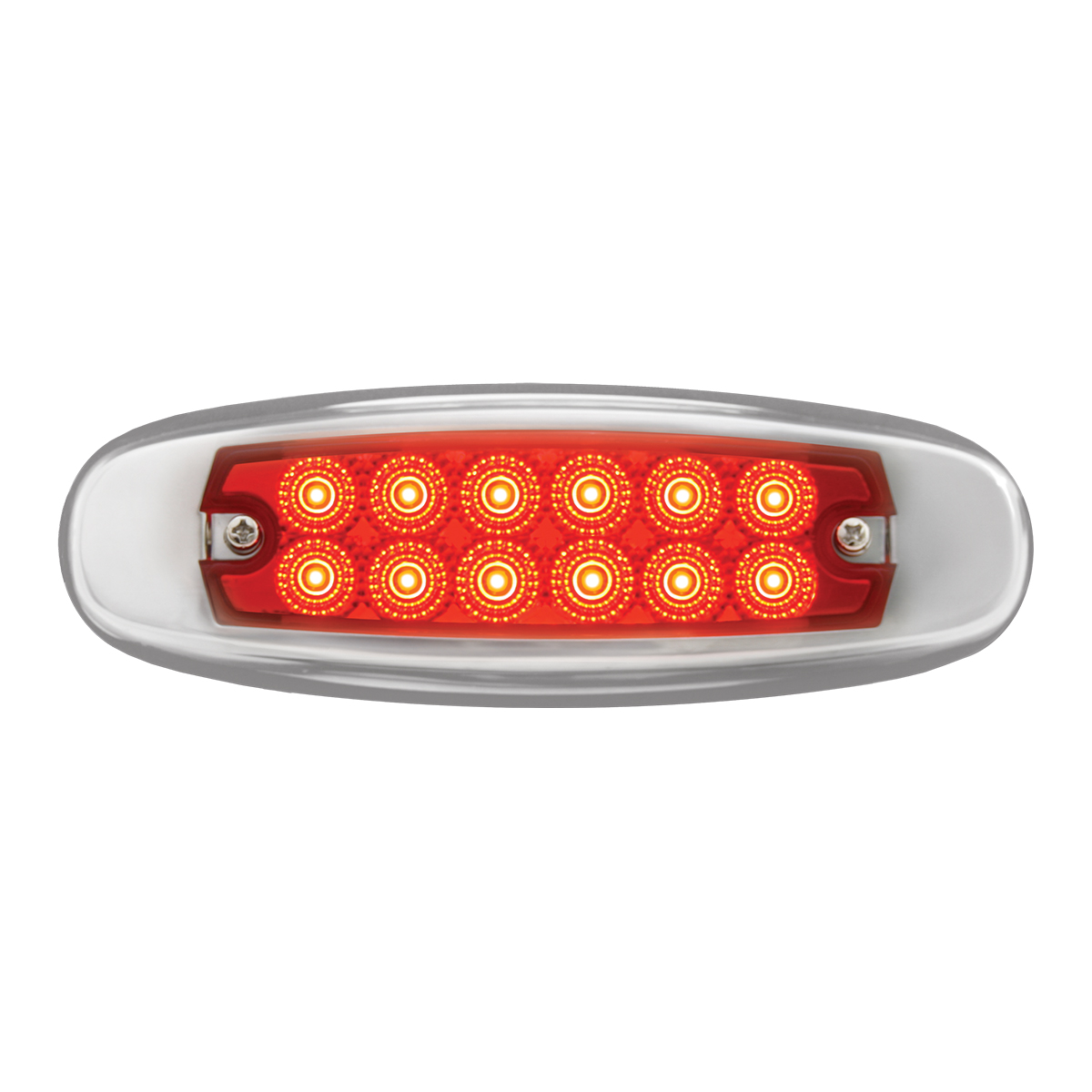 75131 24V Ultra Thin Spyder LED Marker Light w/ Stainless Steel Bezel