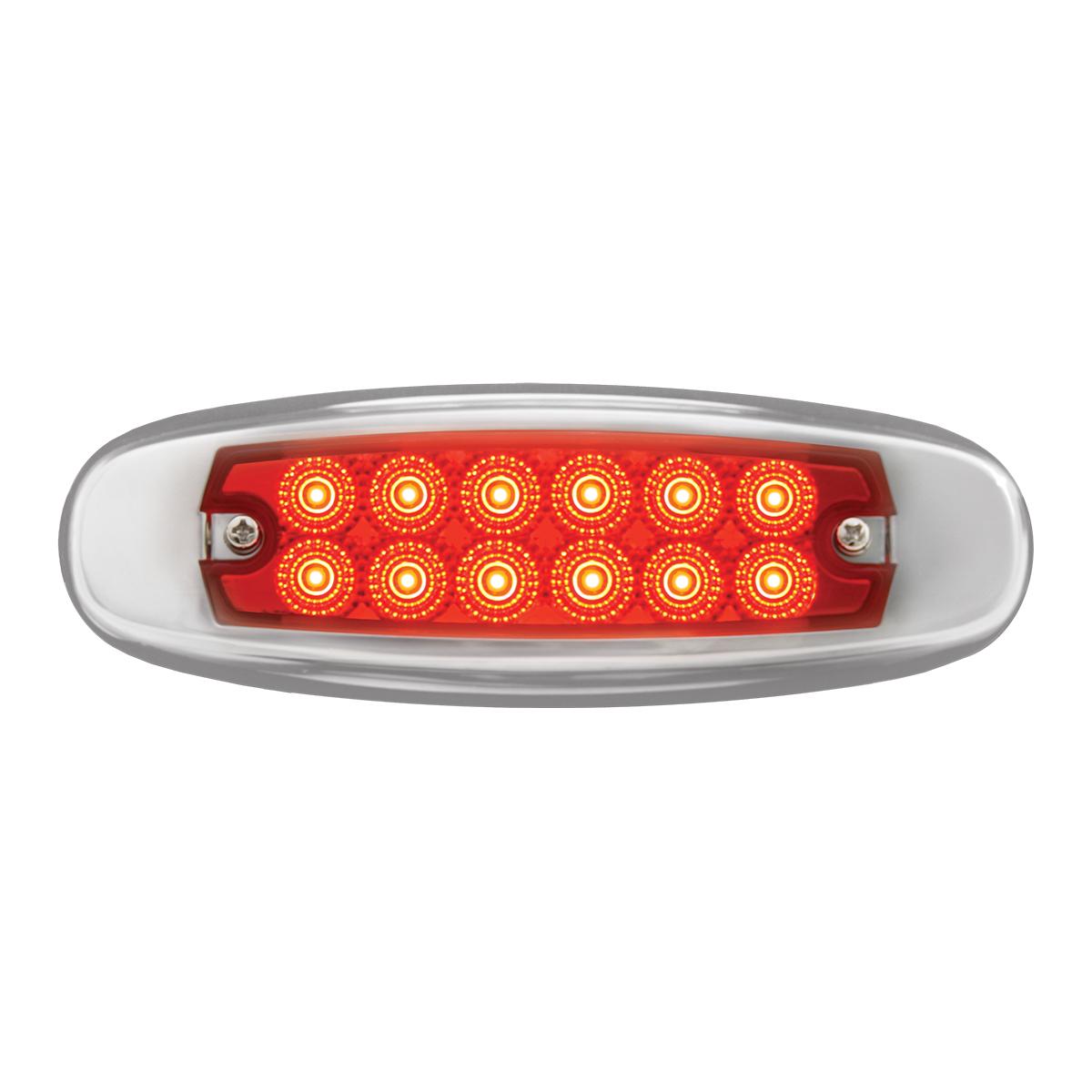 75131 24V Ultra Thin Spyder LED Marker Light w/ Stainless Steel Bezel