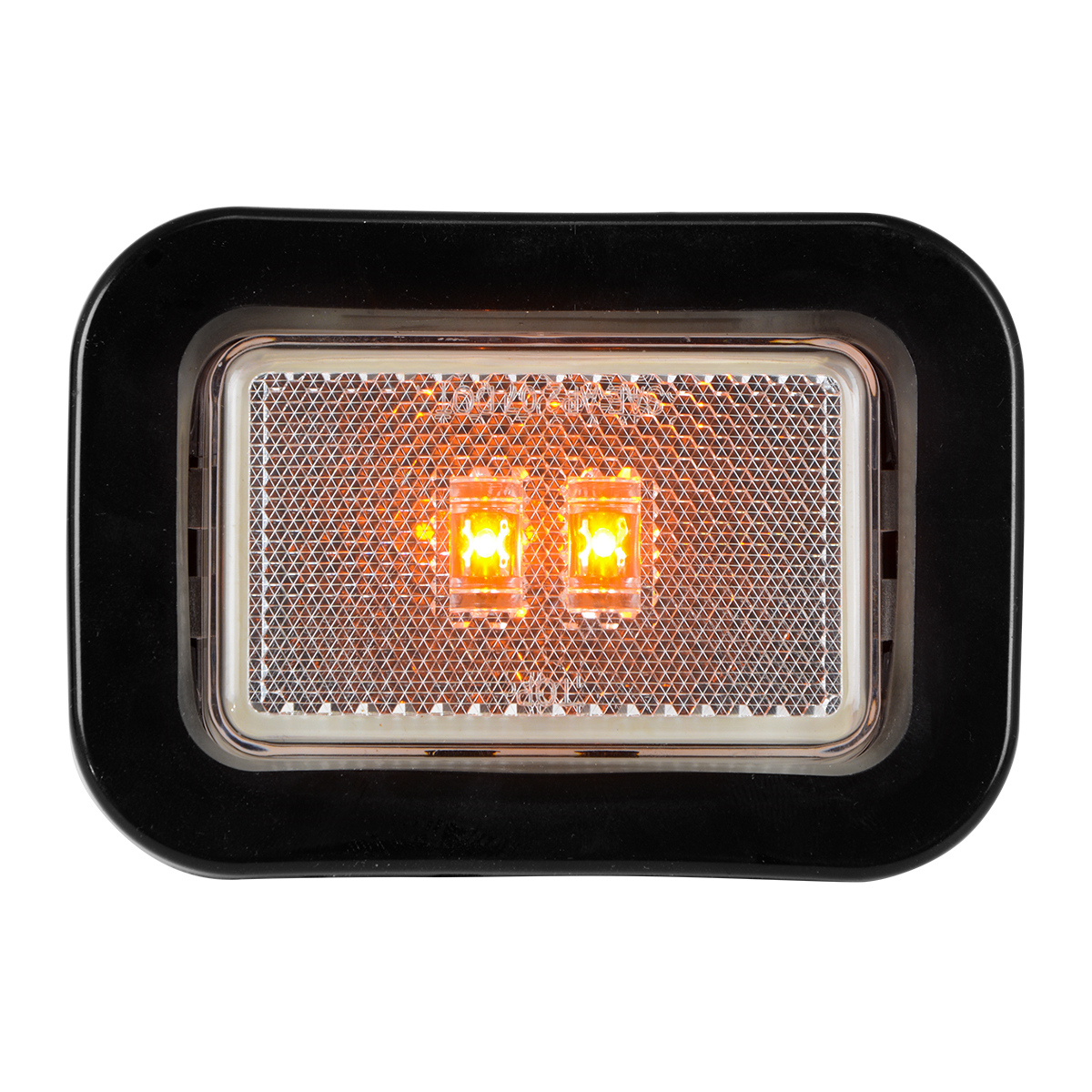 78595 Rectangular Marker LED in Reflector Lens with Grommet and Pigtail