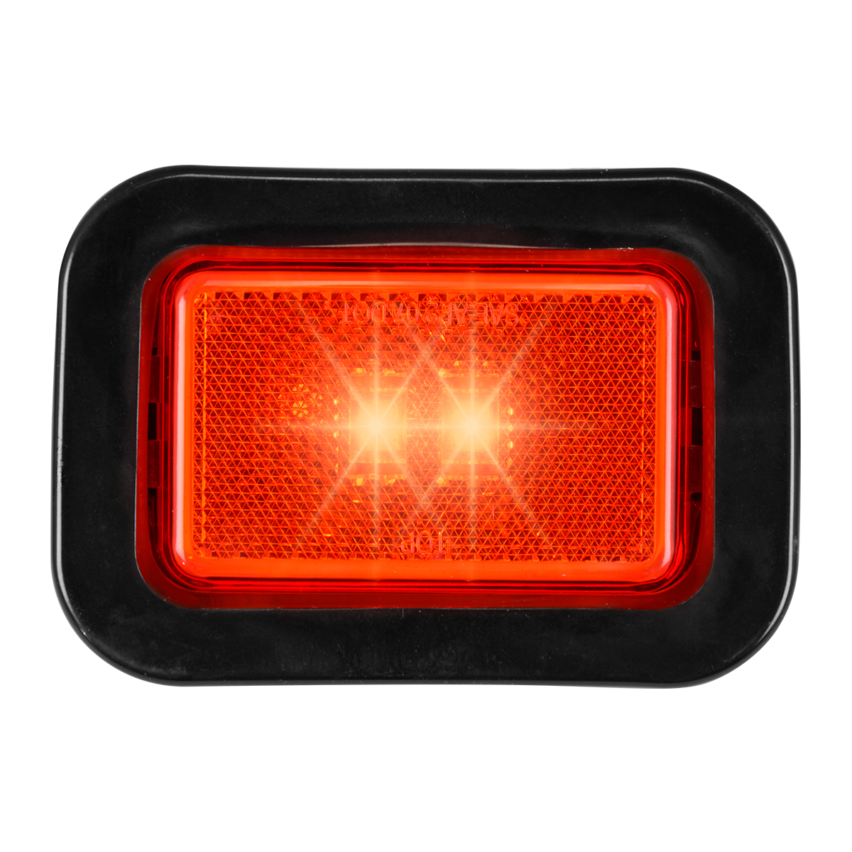 78596 Rectangular Marker LED in Reflector Lens with Grommet and Pigtail
