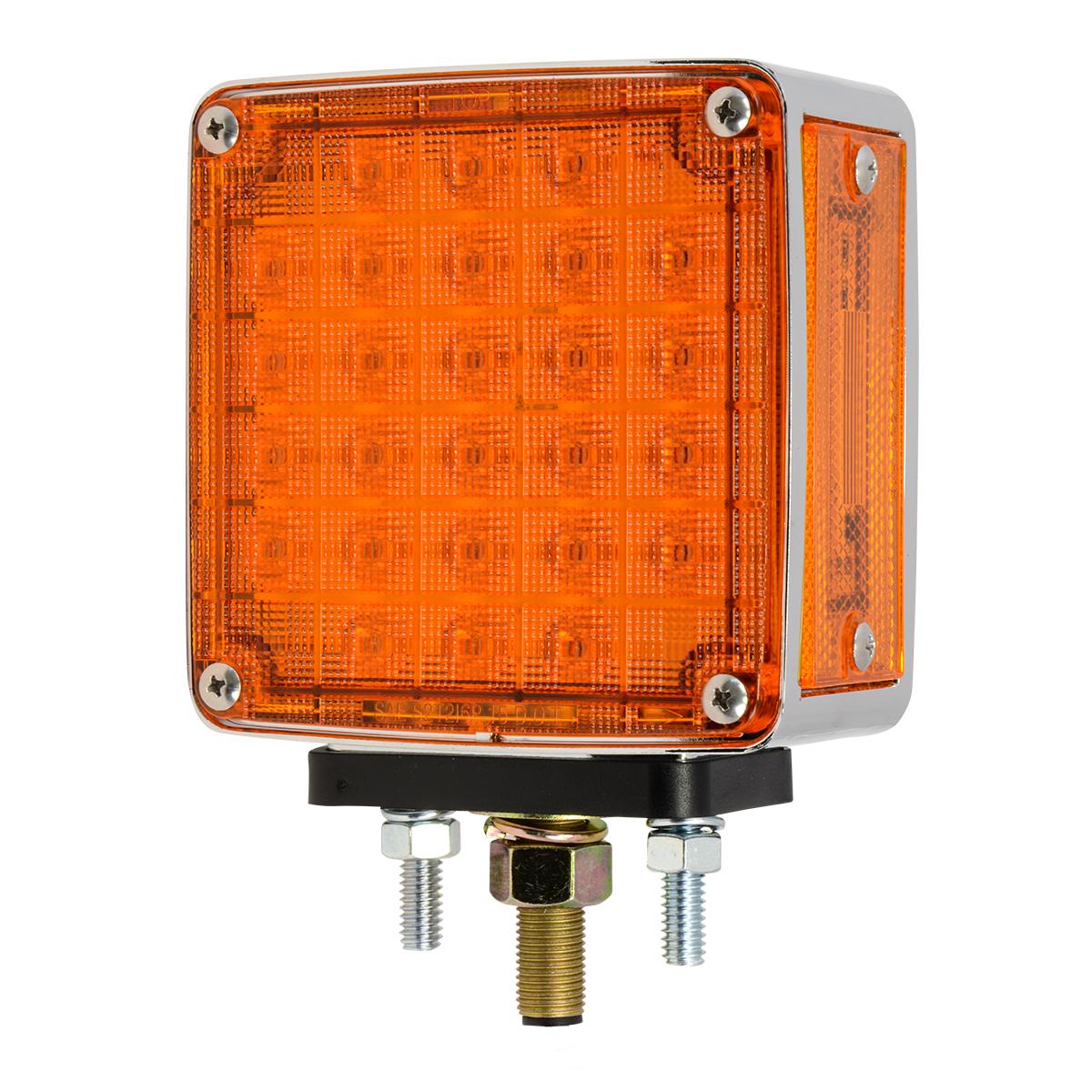 Square Double Face Smart Dynamic LED Pedestal Light in Color Lens