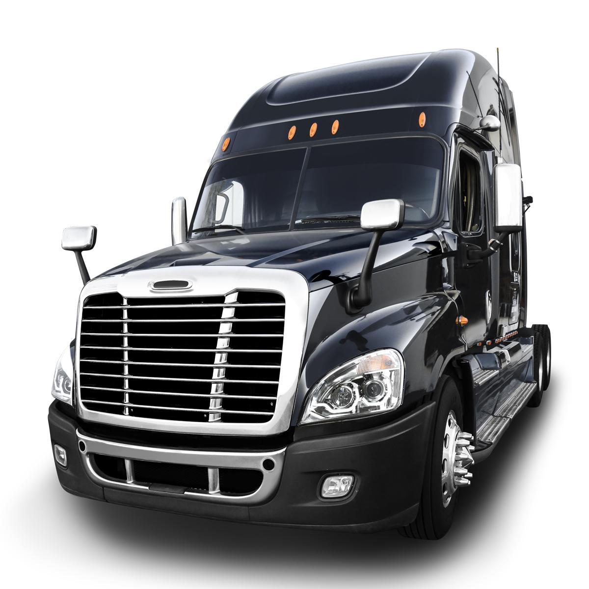 Freightliner Cascadia Chrome Projector Headlight W White