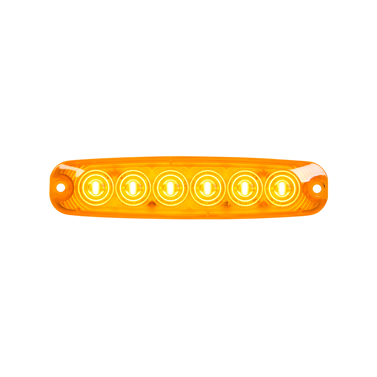 "5 ⅛"" Ultra Thin LED Light - Amber/Amber"