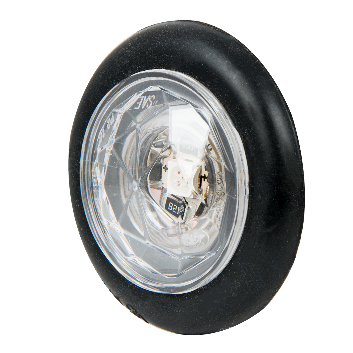 "1"" Dia. Dual Function Diamond Lens LED Light with Rubber Grommet"