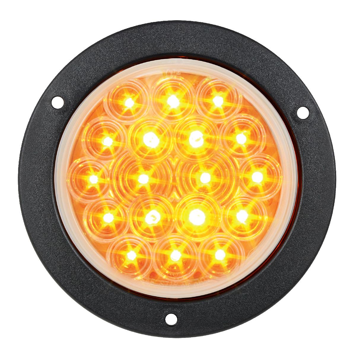 "75891 4"" Fleet LED Light with Black Flange Mount in 3 Wires"