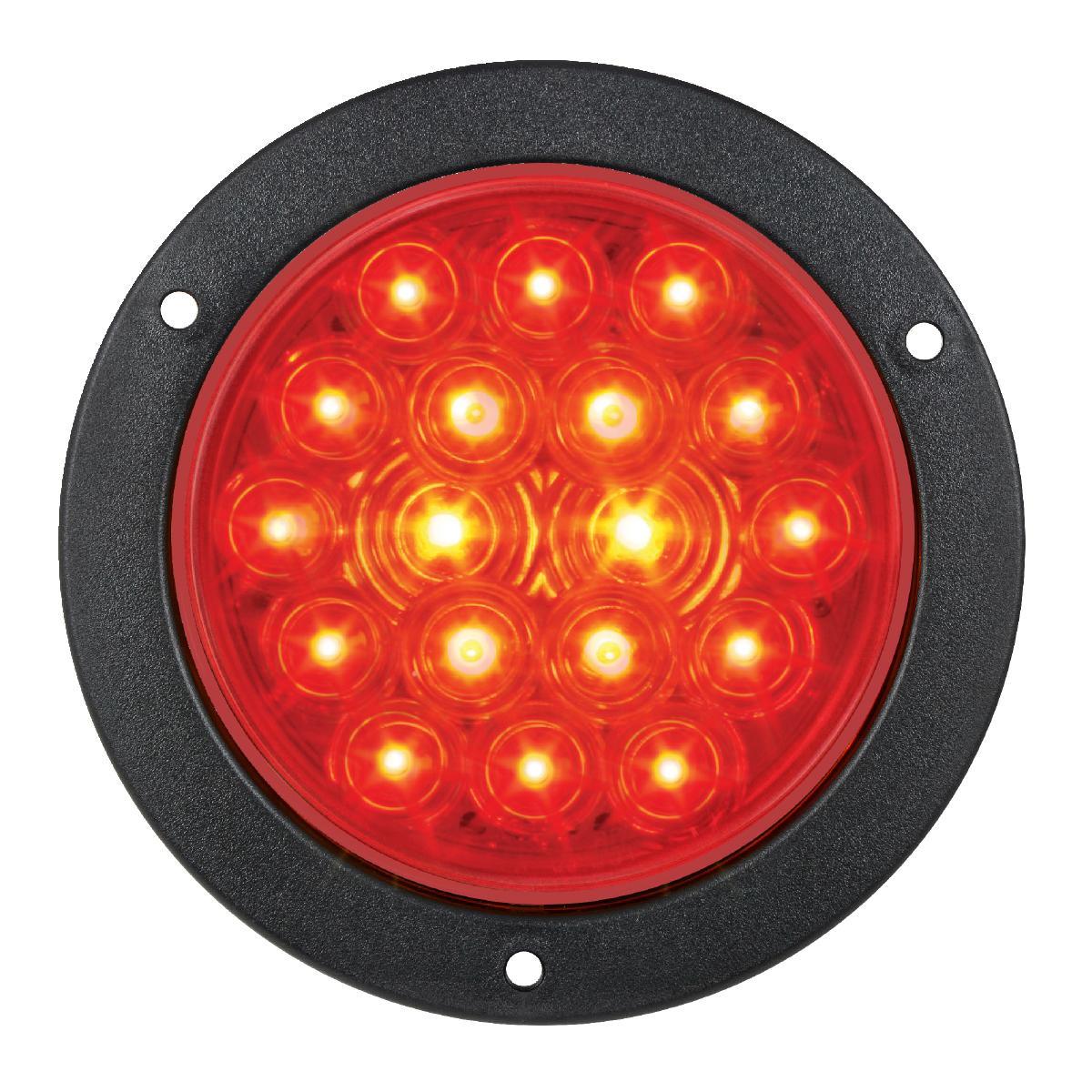 "75892 4"" Fleet LED Light with Black Flange Mount in 3 Wires"