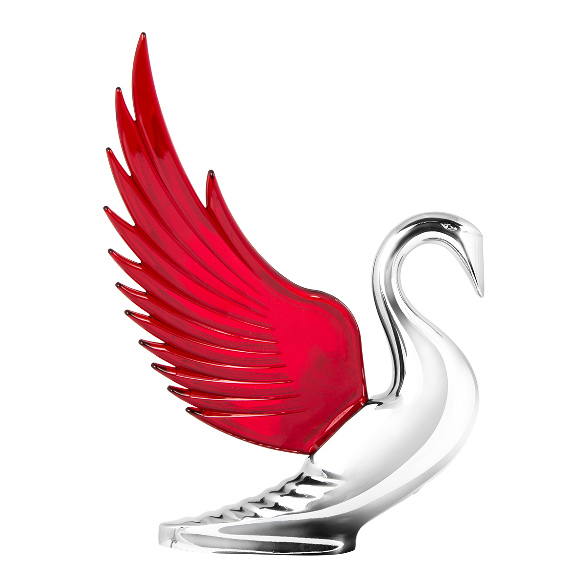 48099 WindRider Chrome Swan Hood Ornament