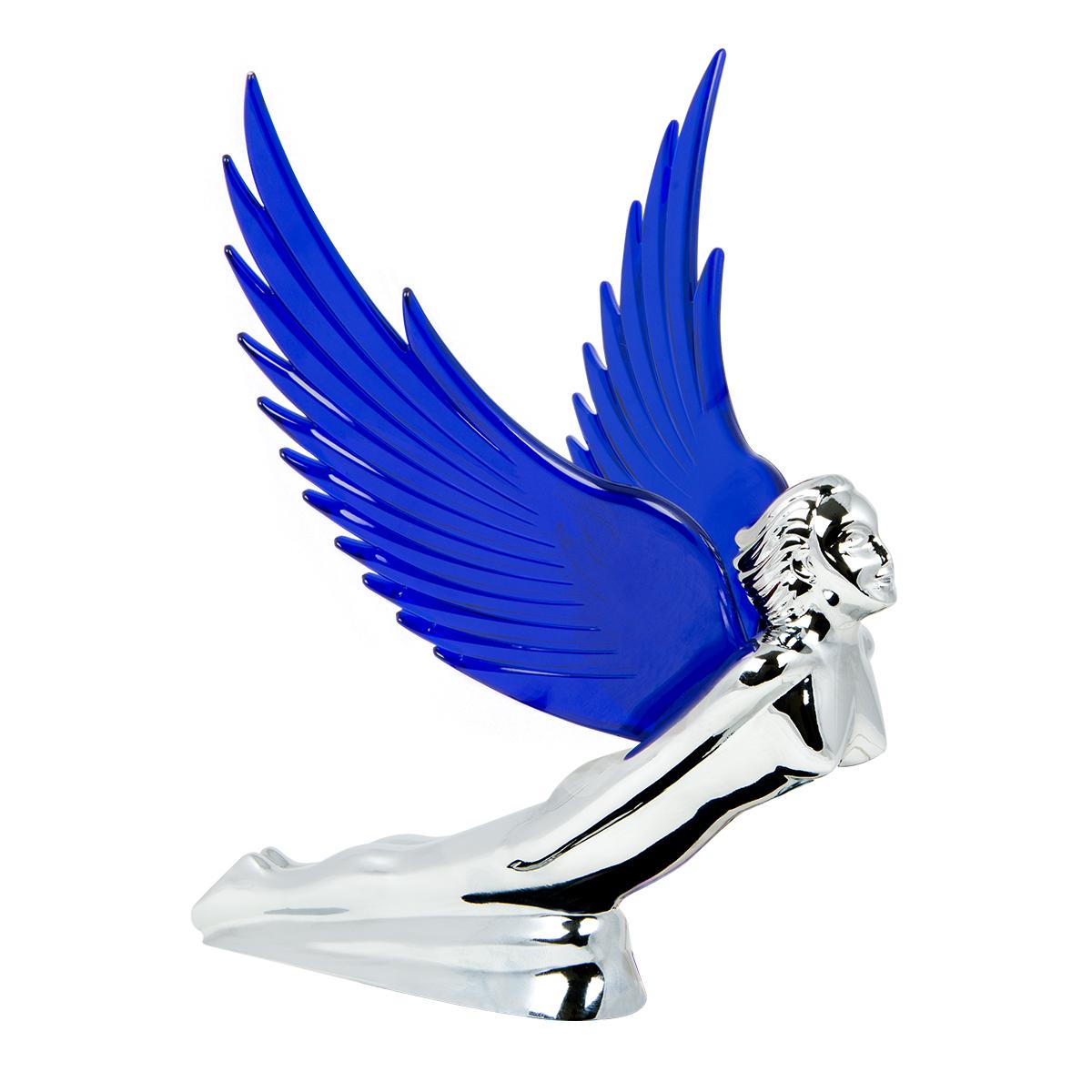 48107 WindRider Chrome Flying Goddess Hood Ornament