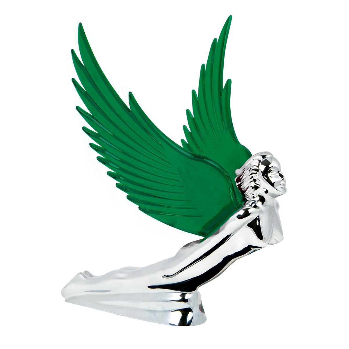 48108 WindRider Chrome Flying Goddess Hood Ornament