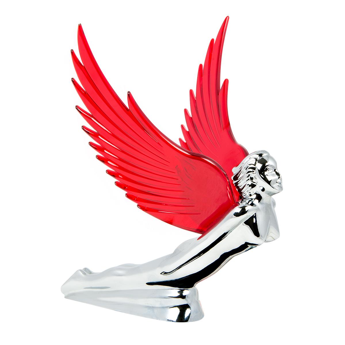 48109 WindRider Chrome Flying Goddess Hood Ornament