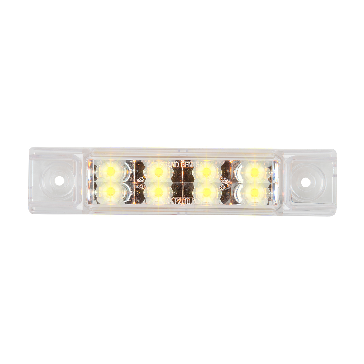 "75186 6"" Rectangular Surface Mount Pearl Marker & Turn LED Light"