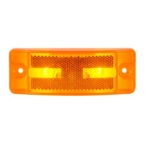 Turtle Style Rectangular Sealed Marker Lights w/ Reflective Lens
