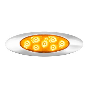 Ultra Thin Surface Mount Pearl Y2K Marker & Turn LED Light with Chrome Bezel