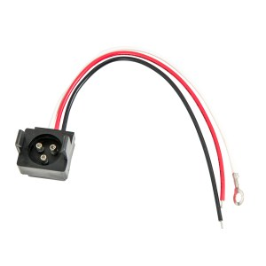 Round Male 3 Pin to 3 Wire Light Adapter Plug
