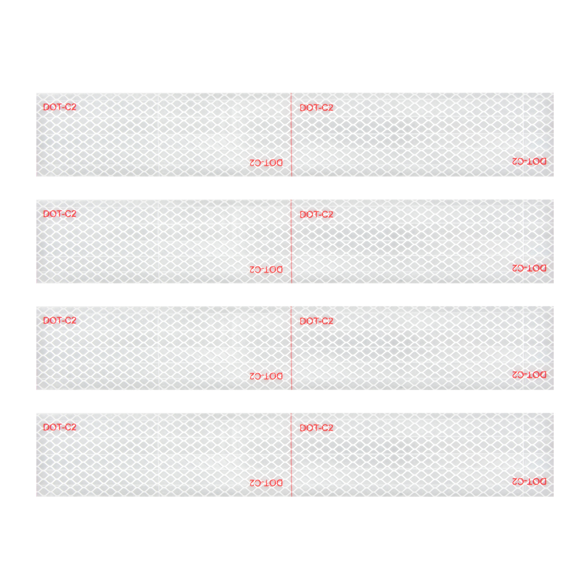 "92294 Premium Hi Viz DOT-C2 Conspicuity Tape in White 18"" Strips"