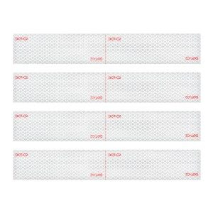 Premium Hi Viz DOT-C2 Conspicuity Tape in White 18″ Strips