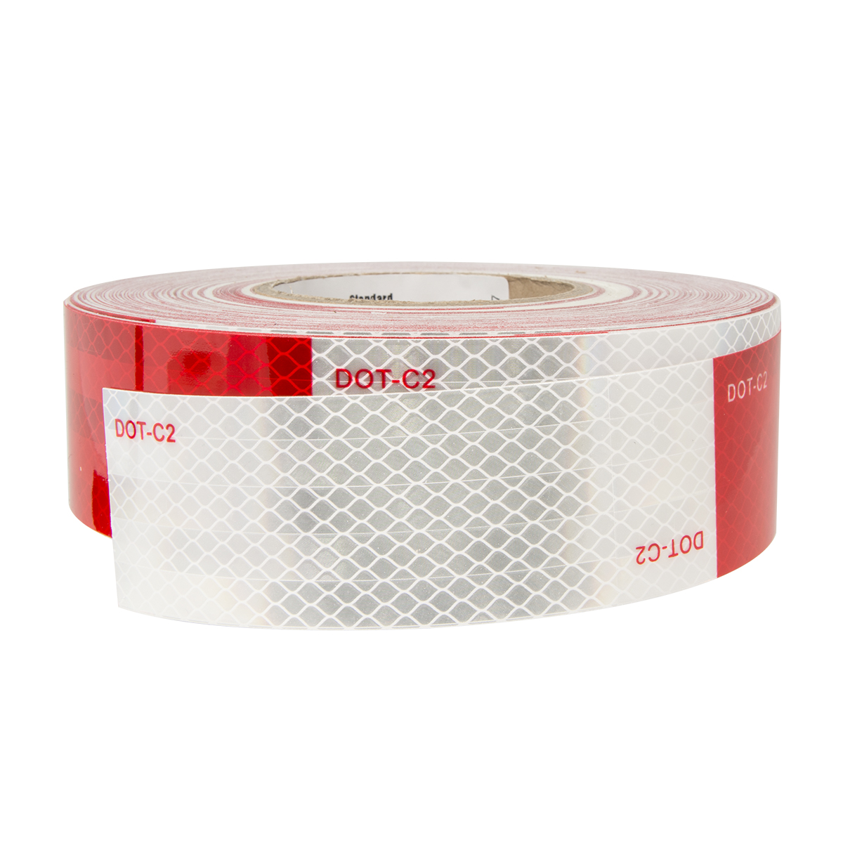 Premium Hi Viz DOT-C2 Conspicuity Tape in Red & White 150' Roll