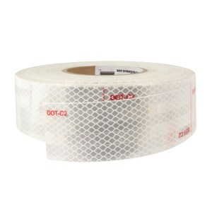 Premium Hi Viz DOT-C2 Conspicuity Tape in White 150′ Roll