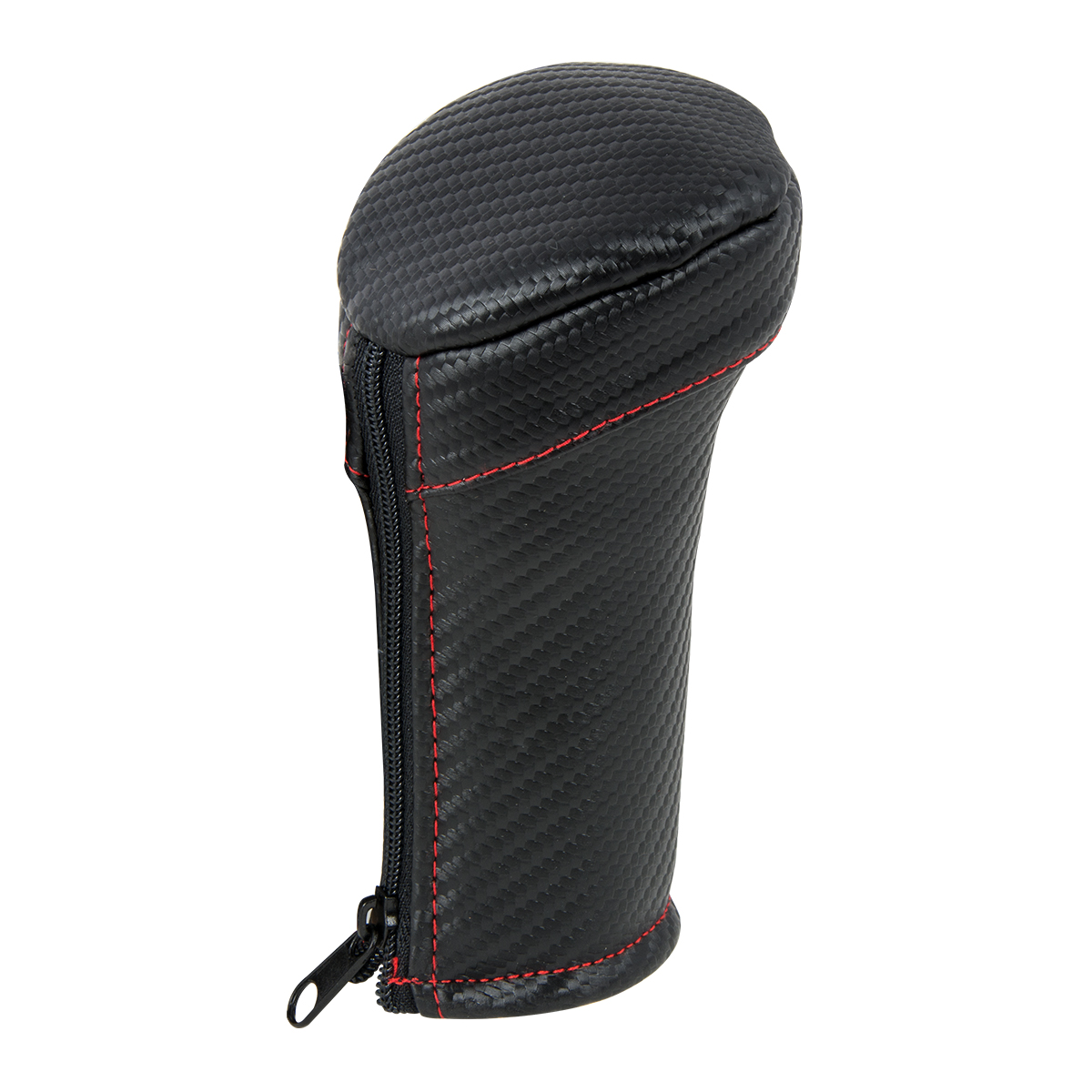 99869 Matte Carbon Fiber Gear Shift Knob Cover w/ Red Stitching