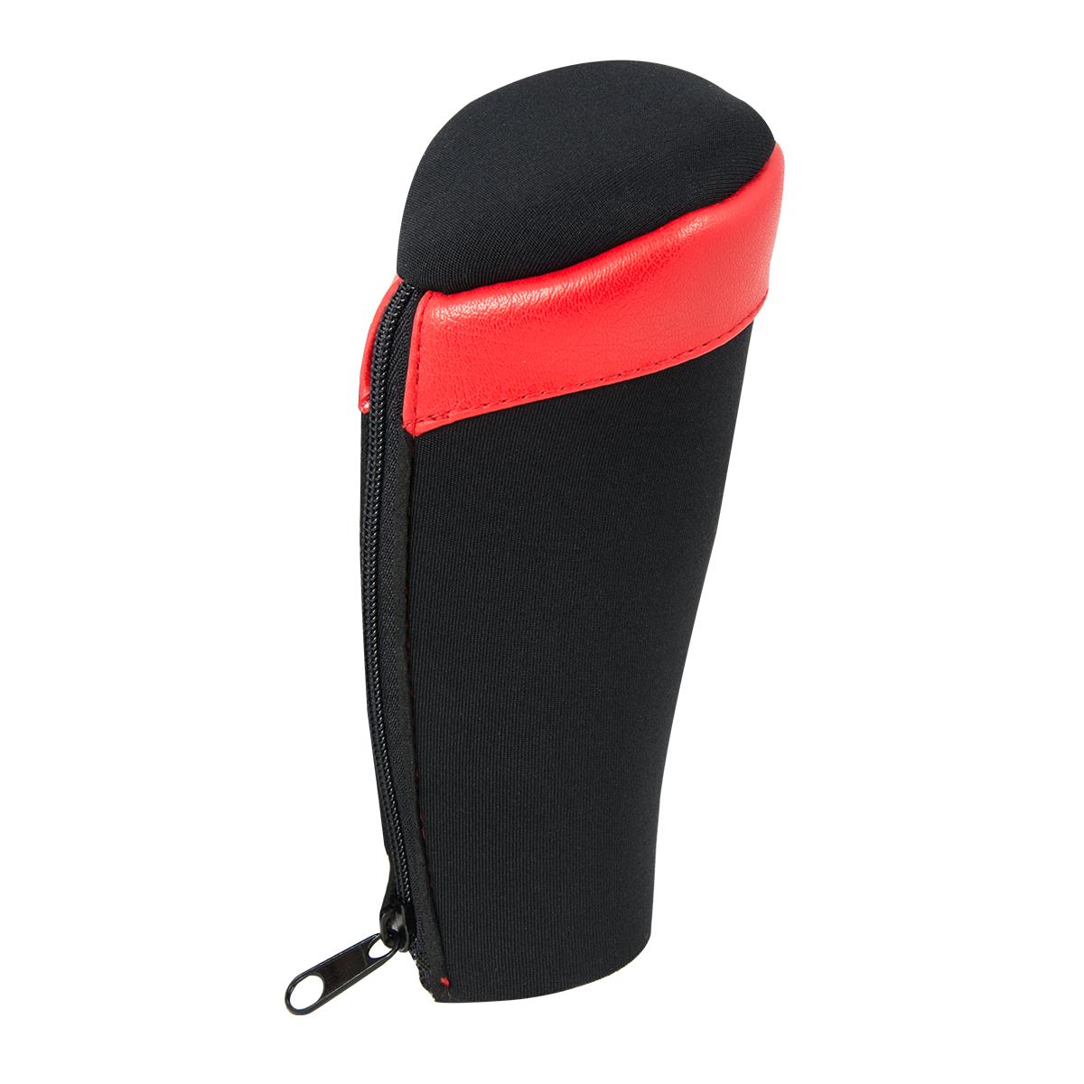 99870 Neoprene Black Gear Shift Knob Cover with Matte Red Trim