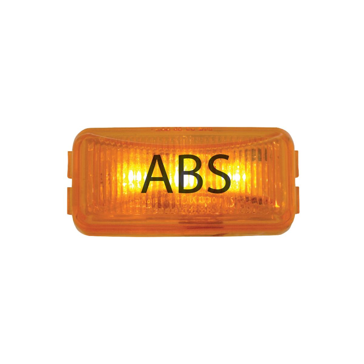 87641 ABS Logo Amber Small Rectangular LED Marker Lights