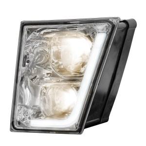 Volvo VN/VNL Chrome Fog/Driving Light w/White High Power LED Position/Daytime Running Light