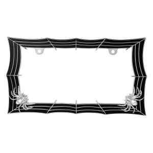 Spider Web License Plate Frame