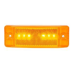 Turtle Style Amber 6 LED Marker Light