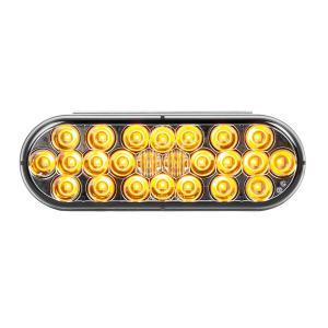 Oval Pearl LED Light Smoke Lens