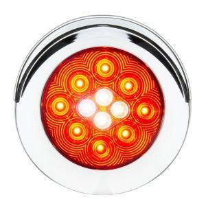 4″ Flange Mount Combo LED Light with Twist-On Bezel and Visor Fleet Series