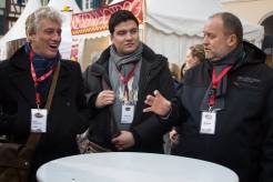 Unterwegs in Sachen Schokolade, Myself, Joseph Feid und Hans-Peter Schwarz