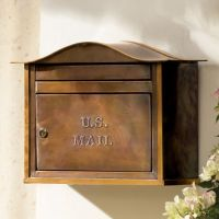 Wall-mount Copper Mailbox | Grandin Road