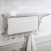 Metal Towel Rack with Mirror