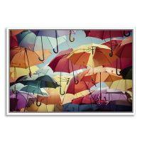 Umbrella Street Framed Wall Art - Grandin Road