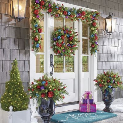 Merry And Bright Cordless Greenery Collection Grandin Road