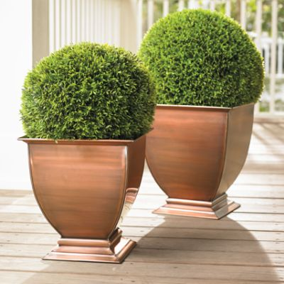 copper footed outdoor planters