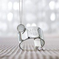 Monogrammed Sterling Silver Jewelry   Grandin Road