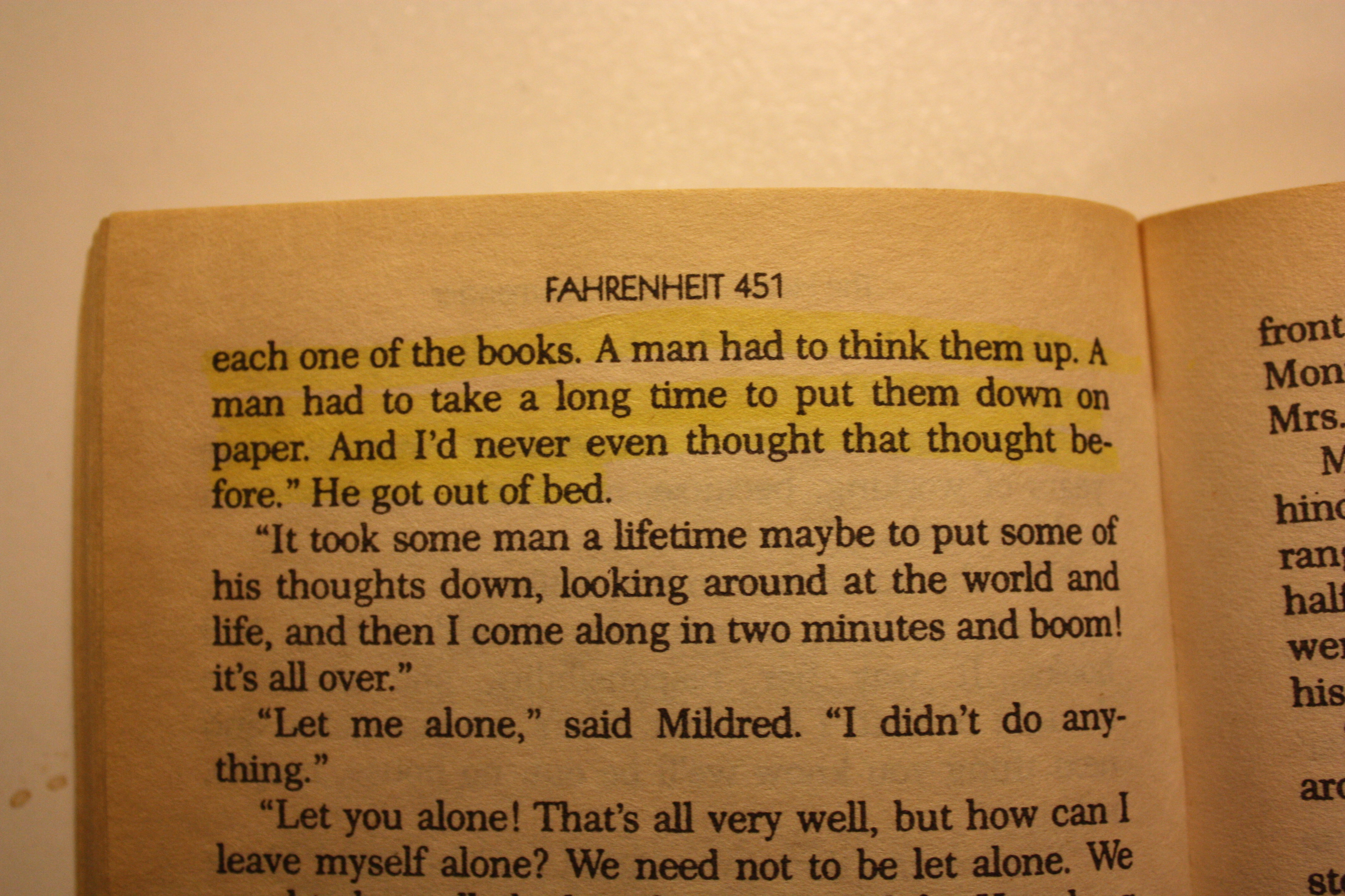 Quotes From Fahrenheit 451 Fahrenheit 451 Quotes On Firemen Picture