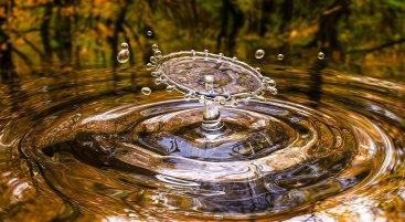 une goutte d'eau tombée dans la rivière, l'écologie au naturel