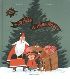 couverture du livre la fille du père noel, un conte en 24 histoires.