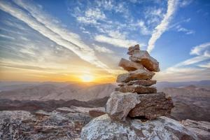 Kairn en haute montagne