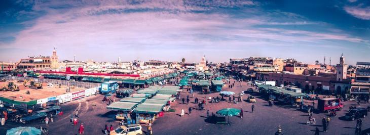 La ville de Marrakech au Maroc