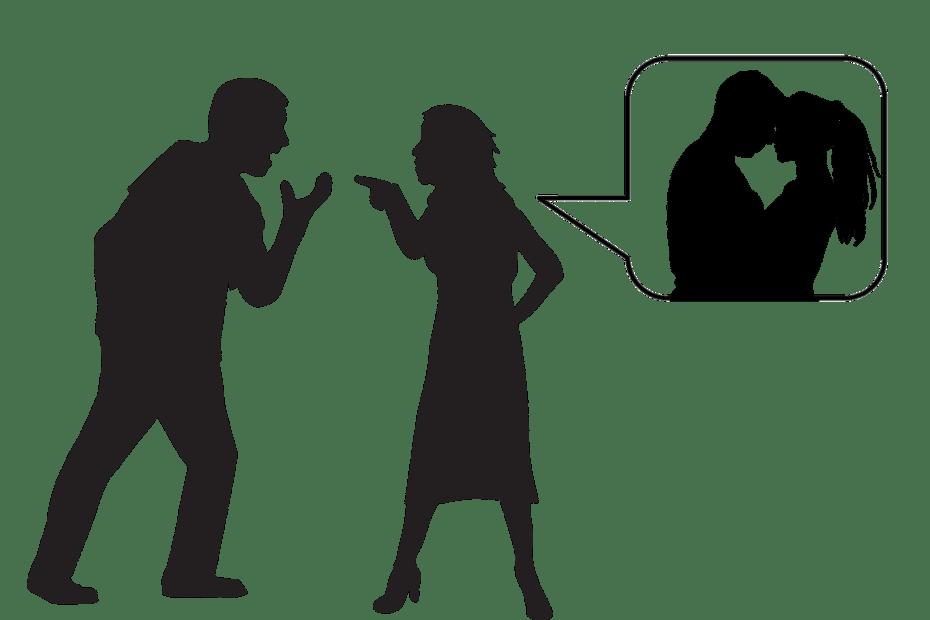 Une femme qui accuse son mari d'infidélité