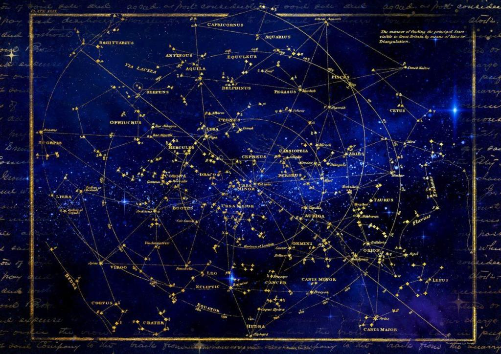 Une carte des constellation du ciel