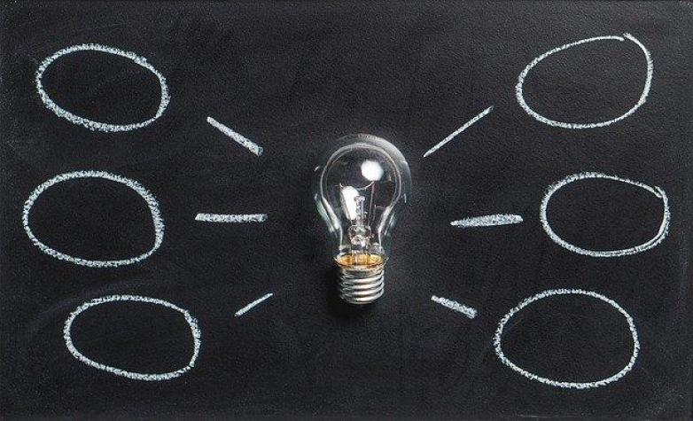 Une ampoule d'idée