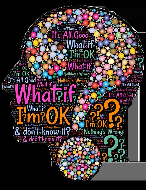 Un cerveau humain en plein questionnement