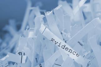 shredded evidence