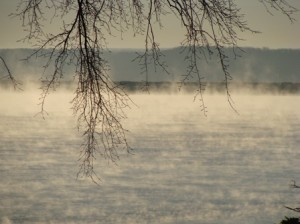 Grand Lake Oklahoma morning steam