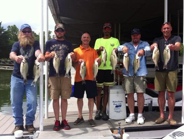 Grand Lake white bass fishing