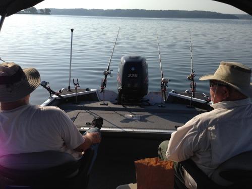 Boat Fishing at Grand Lake OK